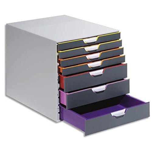 Module de classement Varicolor 7 tiroirs multicolore - Dimensions : L 32 x H 32 x P 39 cm