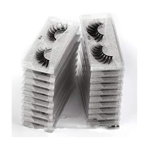 HLWJ. 20/30/50/100 Stück 3D Falsche Wimpern Makeup Falsche Wimpern in der Masse (Color : Mix 40 Pairs, Length : Eyelashes)