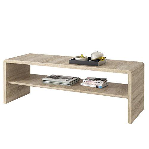 IDIMEX Table Basse Noelle, Table de Salon rectangulaire ou Meuble TV de 120 cm avec 1 étagère Espace de Rangement Ouvert, en mélaminé décor...