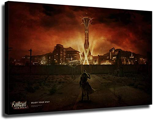ZJP Fallout New Vegas,Poster Wall Art Home Wall Decorations for Bedroom Living Room Oil Paintings Canvas Prints  43 (unframed,12x18inch)