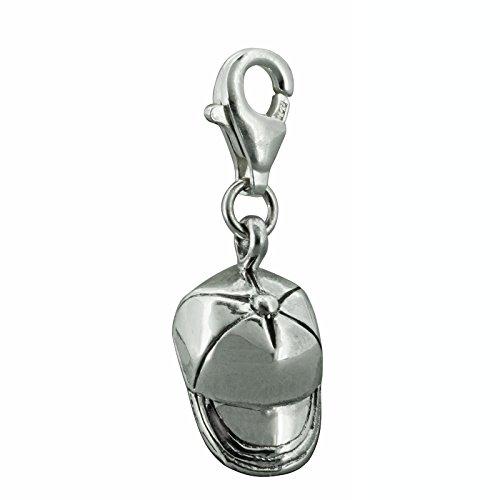 Baseball Cap Hat Anhänger Charm 925Sterling Silber Prägung beldiamo