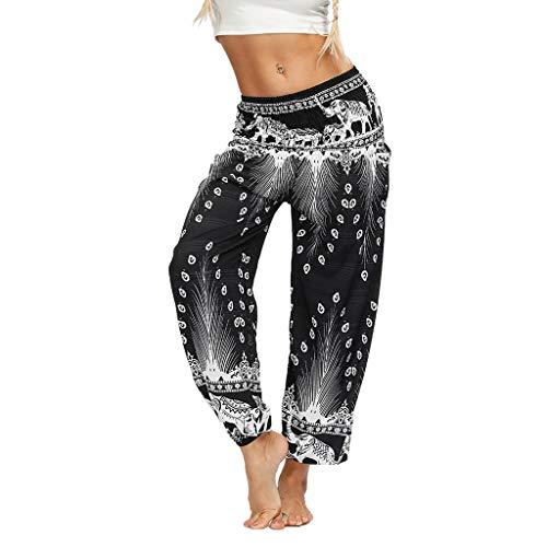 MORCHAN Hommes Femmes thaïlandais Harem Pantalons Boho Festival Hippy Smock Taille Haute Pantalons de Yoga Jeans Combinaisons Pantalon Court Collants Leggings Knickerbockers