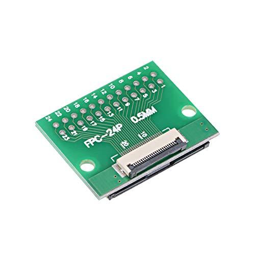 uxcell PCBサポート 24DIPアダプタPCBボードへの24ピンFFCケーブルアダプタ FPC拡張ボード