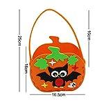 Lushi Halloween Tragetasche EVA Süßigkeitentasche selbstgemacht niedliche Tasche Kürbis Kindergarten Aktivität Geist Festival DIY