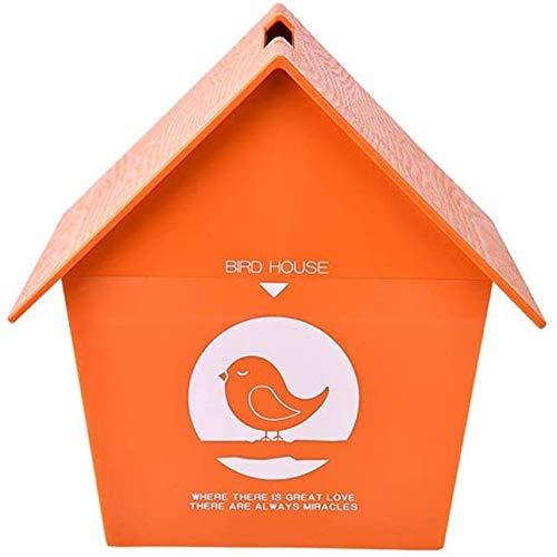Los nidos de aves for las jaulas de Artes retro y decorar Flor Crafts sombrero en forma de la casa del pájaro al aire libre campo for la casa del pájaro de madera al aire libre Birdhouse pequeño pájar