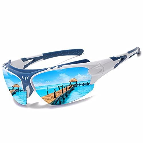 HYSK Gafas de Sol Deportivas polarizadas, protección contra la protección UV con Marco Ligero para Hombres, Ideales para Conducir Pesca de Ciclismo y Correr 01