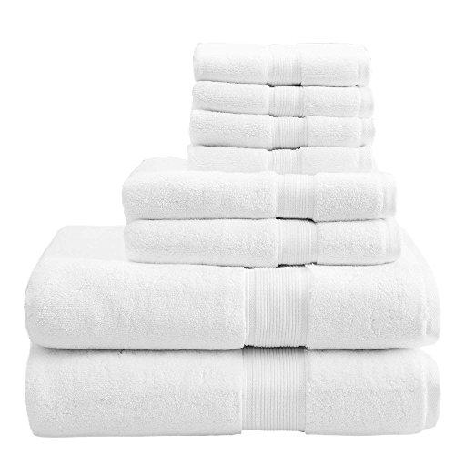 20 serviettes carré 33x33 cm, ORPHEEBS, BLANC, Divers Dimensions, 500 GR/m², 100% Coton en Coton peigné et Fils zéro Twist Hotel Spa