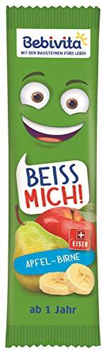 Bebivita Früchte-Riegel BEISS MICH! Apfel-Birne, 20er Pack (20 x 25 g)
