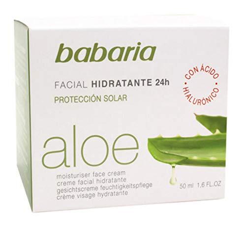 Babaria 31064 - Crema hidratante con aloe vera, 50 ml