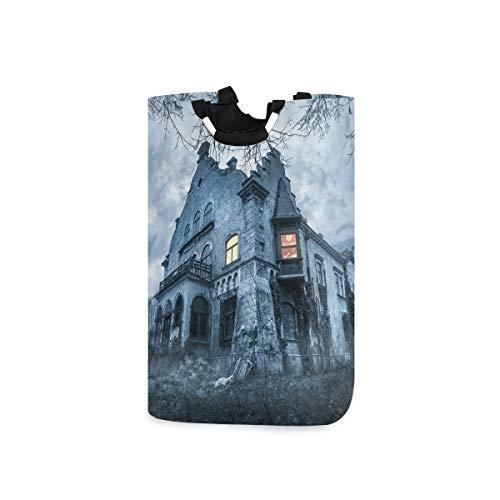 Chic Houses Canasta de lavandería de estilo gótico con personalidad misteriosa para ropa sucia, papelera para dormitorio o baño 2030181