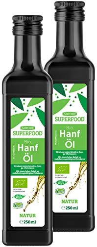 Bio Kaltgepresstes Hanföl - 2 x 250 ml (2 x Natur)