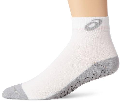 ASICS Snap Down Socken, Mädchen Jungen Unisex Damen Herren Unisex-Erwachsene, weiß/grau, Medium