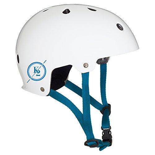 K2 Erwachsene Inline Skates Varsity Helm - Weiß-Blau - S (48-54cm) - 30C4001.1.1.S