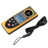 Medidor de velocidad de viento portátil de anemómetro digital, pantalla LCD multifunción GM8910 Medidor de escala de velocidad de viento de aire anemómetro digital