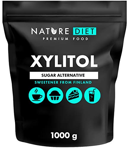 Nature Diet - Azúcar xilitol 5kg | Xilitol de Finlandia 5x1000g | Azúcar de abedul 100%