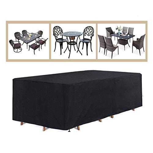 Cubierta for Muebles De Jardín Al Aire Libre, Tela Oxford Transpirable Impermeable 210d Juego De Patio Rectangular Cubierta Sofá Jardín Cubierta Impermeable Banquetas for Asientos De Banco - Negro