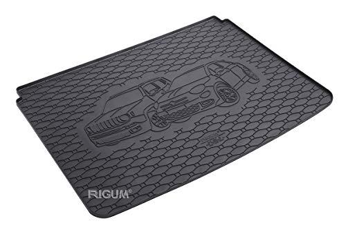 RIGUM Passgenaue Kofferraumwanne geeignet für Jeep Renegade ab 2014 + Autoschoner MONTEUR