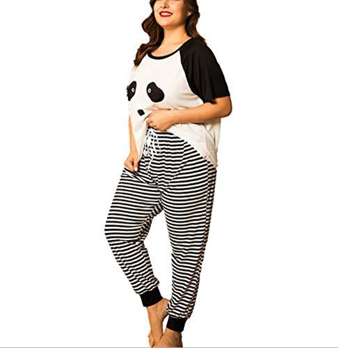 XINGYU Camisones para Mujer Ropa para Dormir Traje De Dos Piezas Manga Corta Pantalones Pijamas Impresión Suelto Primavera Y Verano Hogar Ropa