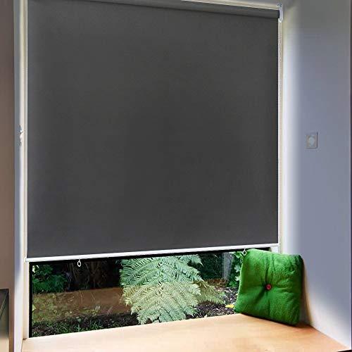 Ouhigher Außenrollo Senkrechtmarkise (BxL)180x240cm Sichtschutzrollo Reflektierende Thermofunktion Balkonrollo für Türen Fenster Anthrazit