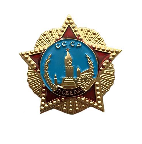 Ganwear UDSSR sowjetische russische Armee Militär WW2 Award Mini Order of Victory Metalll Brosche Abzeichen