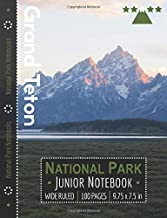 Grand Teton National Park Junior Notebook: Wide Ruled Adventure Notebook for Kids and Junior Rangers