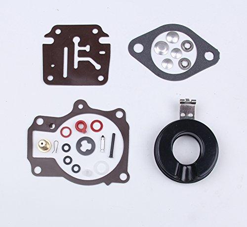 wingsmoto Carb Riparazione carburatore ricostruire Astuccio con flotta per Johnson Evinrude Carburetor 396701/20//25//28//30//40//45//48//50//60//70