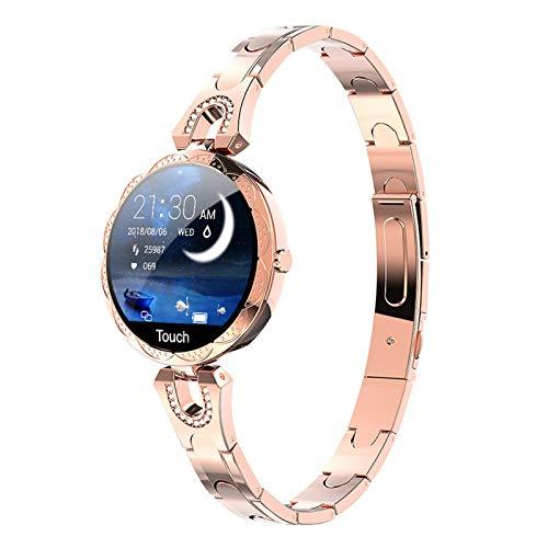 ZRY AK15 Smart Watch Ladies 2019 Nueva Presión Arterial Monitor De Ritmo Cardíaco Pulsera IP67 Reloj Impermeable para Android iOS Teléfono,B