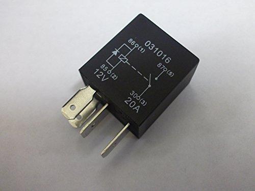 Mikro-Relais, 4-polig, 12 V, 20 A, normalerweise offene Diode, für Auto, Van