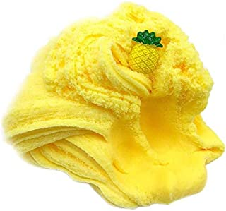 Pineapple Cloud slime, Non-Sticky Floam slime Stress Relief Toy Scented DIY Putty Sludge Toy