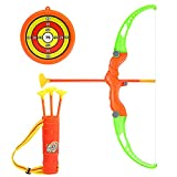 TOYANDONA Kids Bow and Arrow Set Archery Toys with Suction Cups Arrow Target and Quiver Outdoor Toys for Toddler and Children