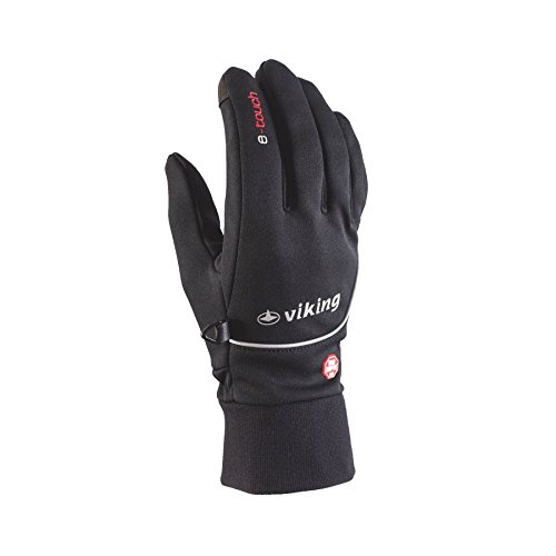 Viking anan Softshell Sport Gants Course Gants de gants femme homme Noir Noir 7
