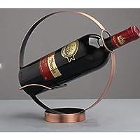ワインホルダー、ヨーロッパのレトロな錬鉄製の丸いワインラックワインキャビネットワインホルダーバーウェアの入り口の装飾に適しています(Color:ブロンズ)