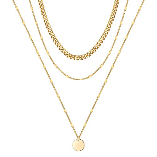 Thick Gold Chain Layered Necklace   Amazon