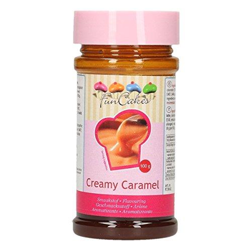 FunCakes Aroma de Caramelo de FunCakes: Aromas Alimentarios, Gran Sabor, Perfecto para Decorar Pasteles, Adecuado para Masas y Rellenos. 100 g