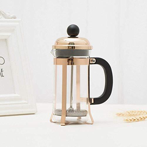 XYSQWZ Moka Kaffeekanne Kaffeemaschine Kolben Teemaschine Perkolator Filterpresse 350 Ml Kaffeekessel Topf Glas Teekanne Cooper Wasserkocher