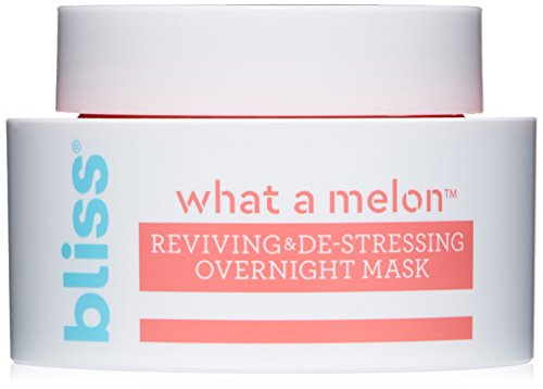 Bliss - What a Melon Overnight Facial Mask | Reviving & De-stressing Overnight Mask | Hydrates, Nourishes, and Softens |All Skin Types | Vegan | Cruelty Free | Paraben Free | 1.7 fl.oz