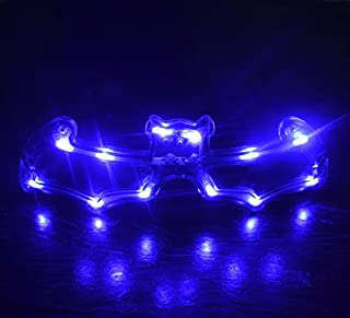 LED Light Up Flashing Party Glasses - Various Styles by Mammoth Sales (Blue Bat)