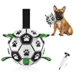 KALINCO Dog Soccer Ball with Grab Tabs, Interactive Dog Toys, Dog Water Toy, Tug of War Dog Toy, Herding Ball for Small & Medium Dogs