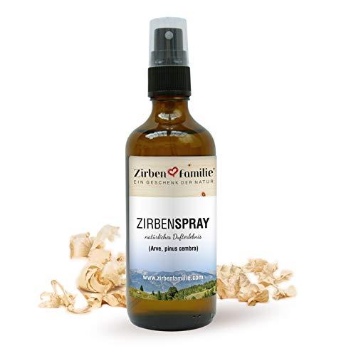 Zirben Familie - bekannt aus dem Fachhandel & der Hotellerie • Natürliches Zirbenspray 100ml • naturbelassenes Duftspray • destilliert von Zirbenkiefern • Wasserdampf-Destillat aus Österreich
