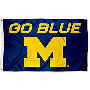 Michigan Wolverines Large Go Blue 3x5 College Flag