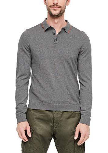 s.Oliver Herren 13.910.61.6903 Pullover, Grau (Blend Grey 9730), Medium (Herstellergröße: M)