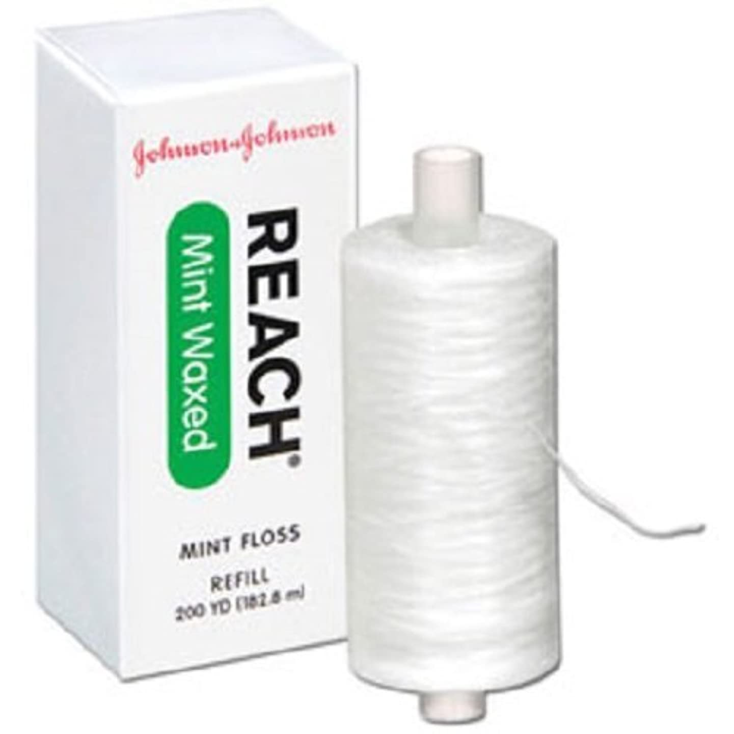 1 x Johnson & Johnson Reach Mint Floss Waxed refill spool, 200 yds, 2733