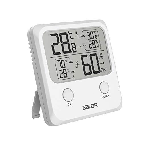 BIlinli Indoor Digital LCD Thermometer Hygrometer Wand Temperatur Luftfeuchtigkeit Messgerät
