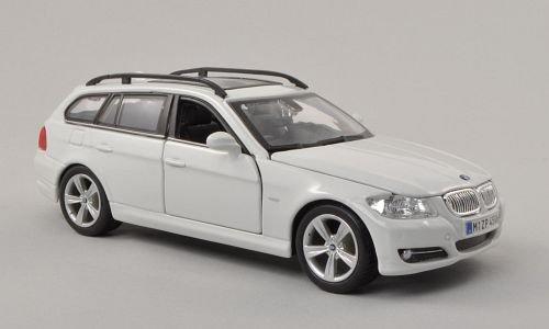 BMW 3er (E91) Touring, Weiss , Modellauto, Fertigmodell, Bburago 1:24
