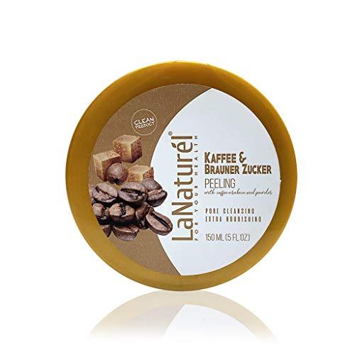 1 x LaNaturel 150ml Kaffee & Brauner Zucker Peeling Creme Peeling-Effekt für Schmutz, Mitesser, stahlende Haut