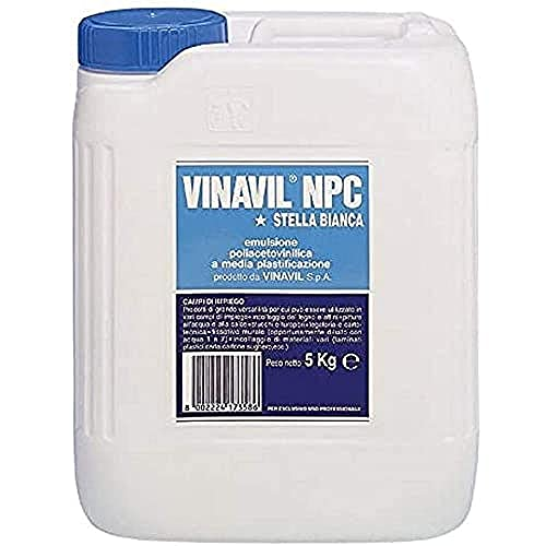 Bostik 3234005 Vinavil NPC Colla, 5 kg, Bianco, 5kg