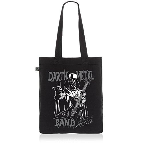 style3 Darth Metal Band Biobaumwolle Beutel Jutebeutel Tasche Tote Bag vader, Farbe:Schwarz