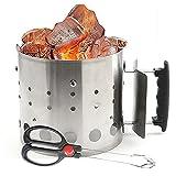 URJEKQ Barbecue BBQ Chimney Starter Quick Start Charcoal Burner Fire Lighter Coal Food Summer Garden Party