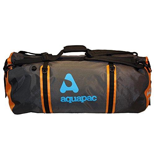 Aquapac Borsa da viaggio Upano a tenuta stagna Duffel, 79 cm, 90 l, multicolore (grigia nera arancione)