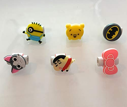 NYRWANA DELIVERING SMILES IN INIDA Ceramic Cartoon USB Charger Data Cable/Hand Free Cord Protector Charging line Saver (Multicolour, 10 Pieces)